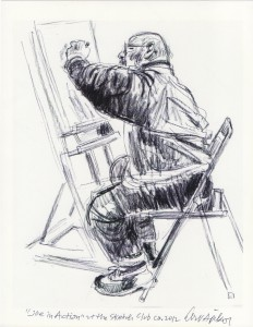 "Joe in Action"" Drawing by Art Spikol, 2012"