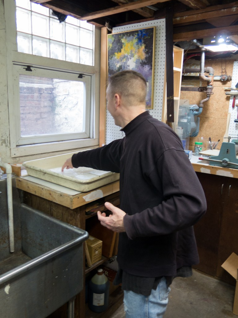 Preparing paper for a print