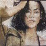 Tiyanna Abdullah-Quinones, Gr. 11, Untitled, Pastel/Conte, Frankford High School Jurors' Choice 2018 PSC HS Art Show